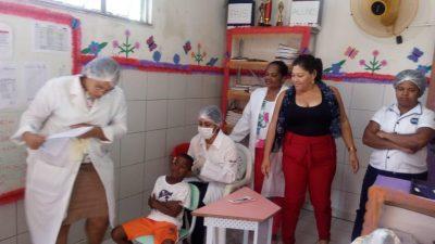 Saúde promoveu ações educativas na Escola Antonina Olímpia, em São Bento, e nas Unidades do Caípe de Baixo e Jabequara
