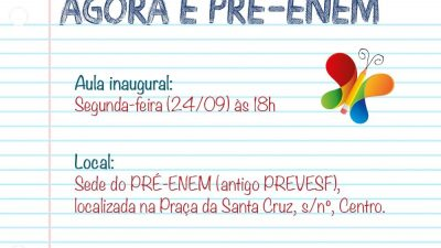 Aula inaugural do Pré-ENEM acontece hoje (24) em São Francisco do Conde