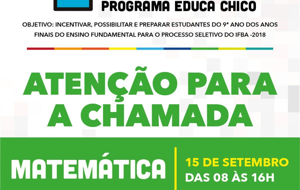 Sábado (15) tem Pré-IFBA com aulão de Matemática