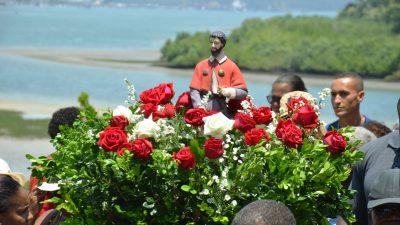 Cânticos, louvores e orações marcaram as homenagens a São Roque na Ilha do Paty, em São Francisco do Conde