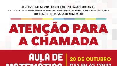 Atividades do Pré-IFBA serão retomadas neste sábado (20)