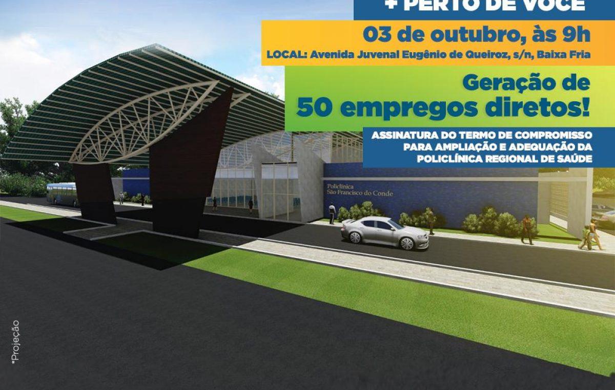 São Francisco do Conde ganhará Policlínica Regional de Saúde