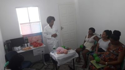 Unidade de Saúde do Caípe de Baixo promoveu atividade voltada para os cuidados com o recém-nascido