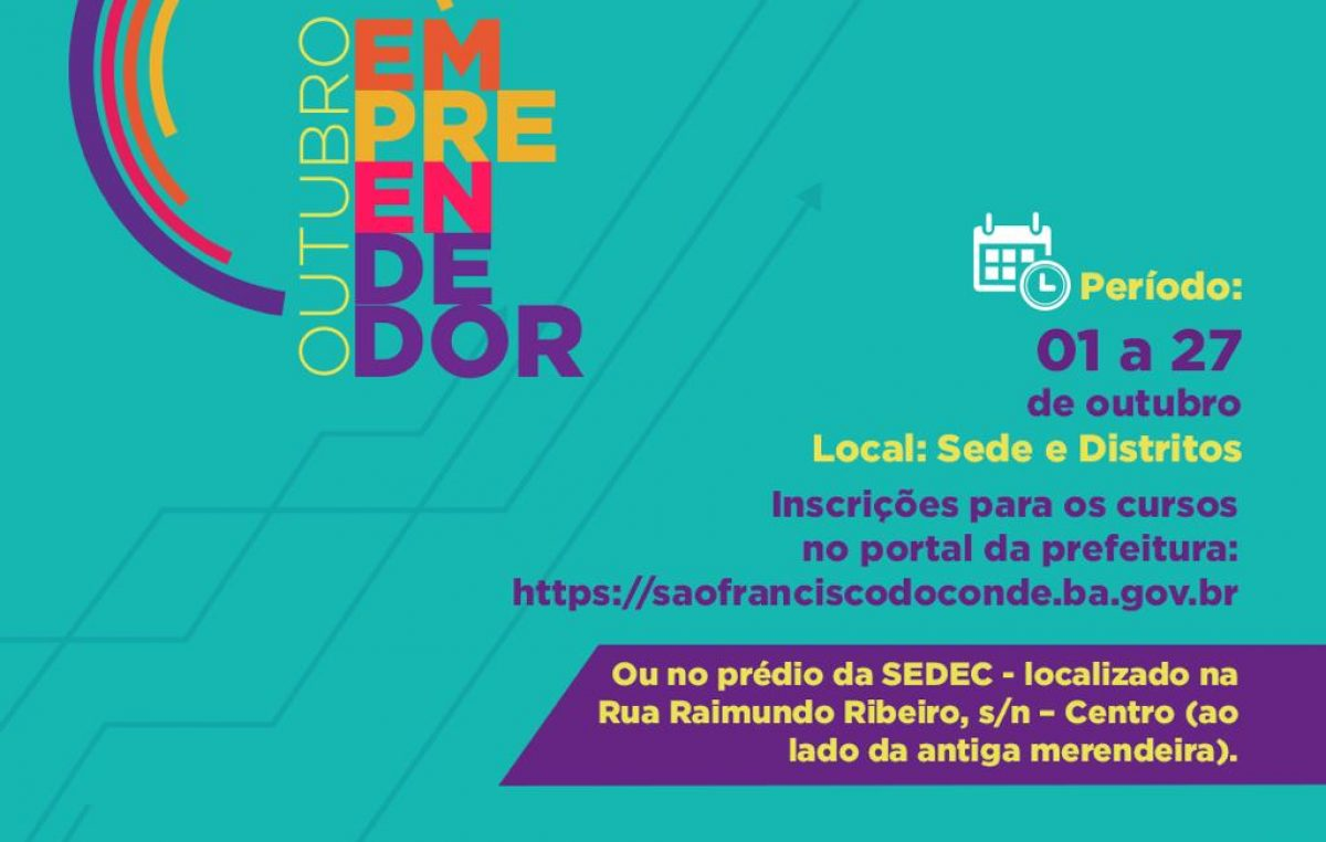 Secretaria Municipal de Desenvolvimento Econômico segue realizando na Sede e nos bairros do município o Projeto Outubro Empreendedor