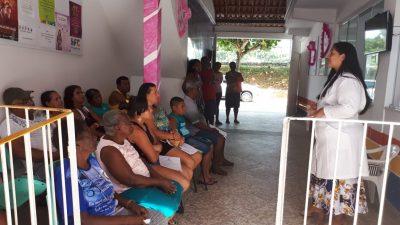 Outubro Rosa: Palestra e exame clínico das mamas marcam as atividades das Unidades de Saúde