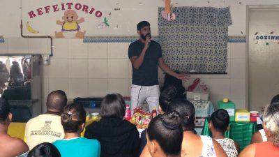 Saúde e Educação promoveram atividade na Creche Isidória Borges para os pais dos alunos