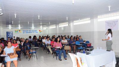 Servidores públicos participaram ativamente da primeira aula do Programa de Capacitação Continuada em São Francisco do Conde
