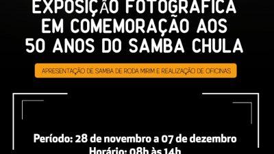 SECULT: Exposição fotográfica irá celebrar os 50 anos do Samba Chula