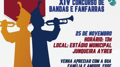 XIV Concurso de Bandas e Fanfarras de São Francisco do Conde acontece no próximo domingo (25)