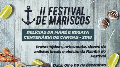 Regata Centenária de Canoas e o II Festival de Mariscos serão realizados nos dias 08 e 09 de dezembro em Santo Estevão