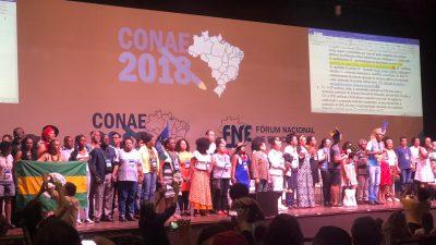 São Francisco do Conde representada por aluna da Cruz Rios na Conferência Nacional da Educação – CONAE 2018, que acontece em Brasília