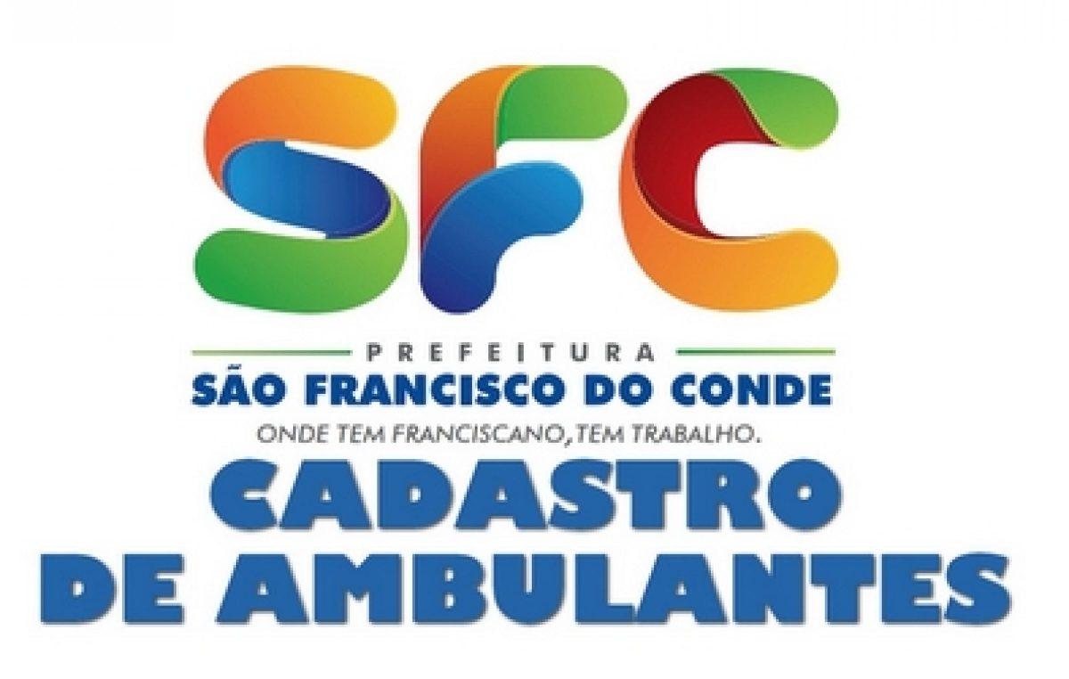Cadastramento de Vendedores Ambulantes para vendas no Carnaval de São Francisco do Conde segue até 14 de fevereiro