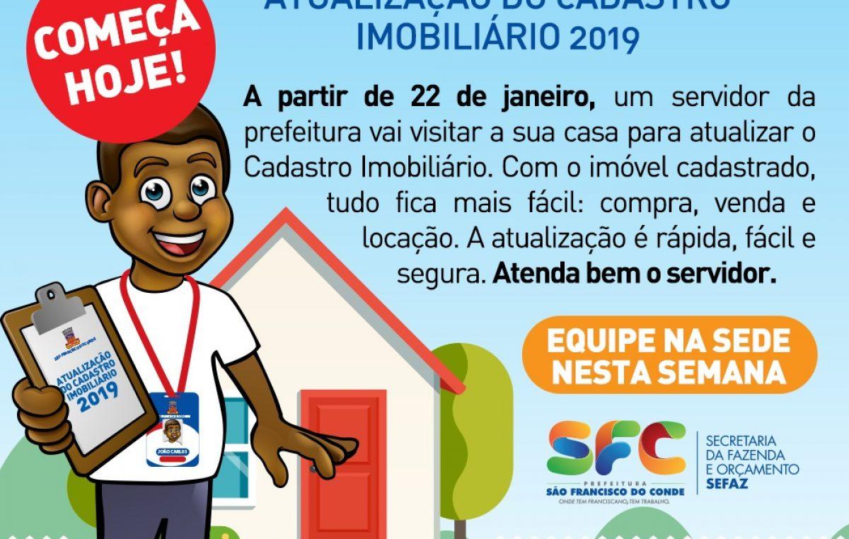 Prefeitura iniciou o Recadastramento Imobiliário Municipal nesta terça-feira (22)