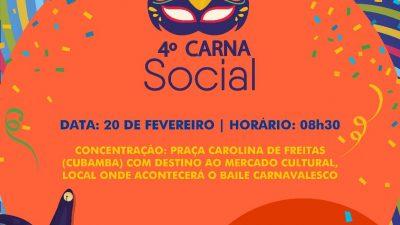 4ª edição do Carna Social será realizada no dia 20 de fevereiro