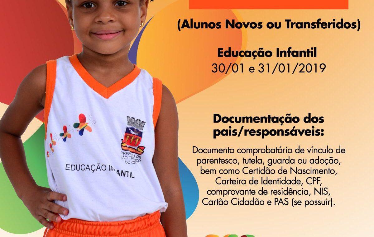 Matrícula informatizada da Rede Municipal de Ensino de São Francisco do Conde começou nesta quarta-feira (30)