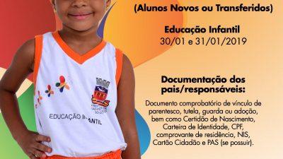 Matrícula informatizada da Rede Municipal de Ensino de São Francisco do Conde começa na próxima quarta-feira (30)