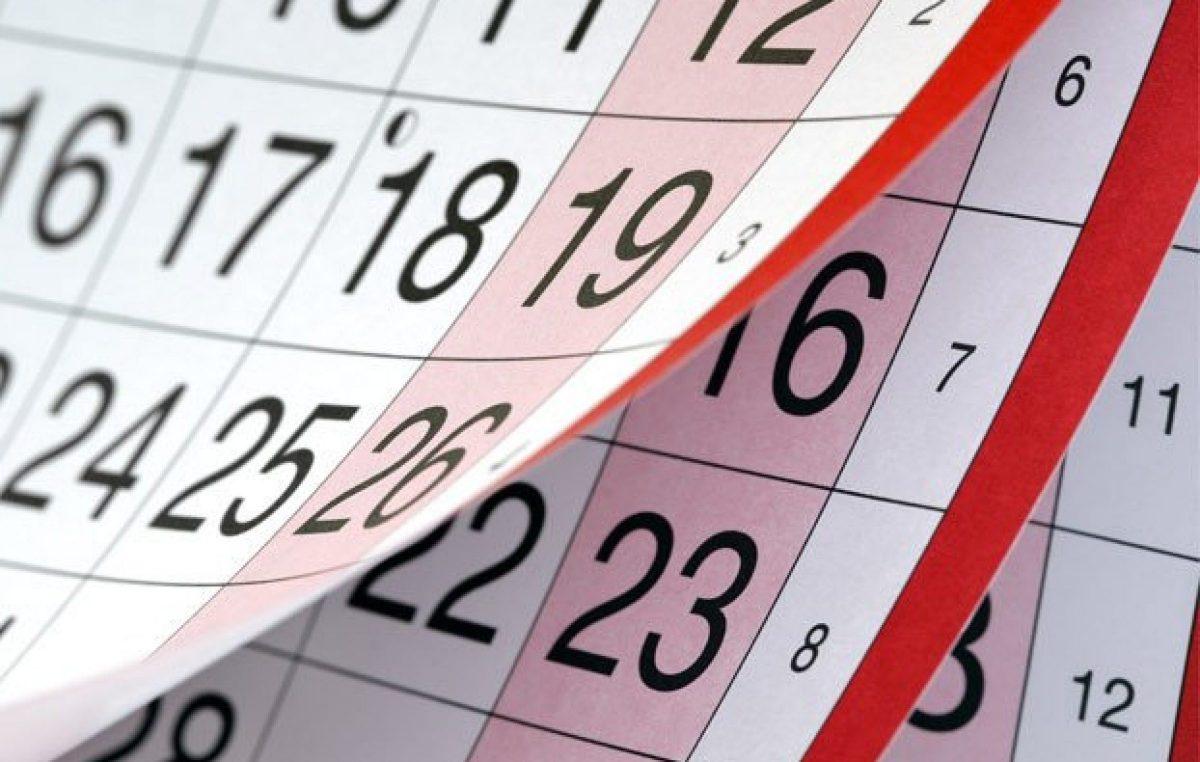 A Prefeitura divulgou o Calendário Oficial do Município de 2019