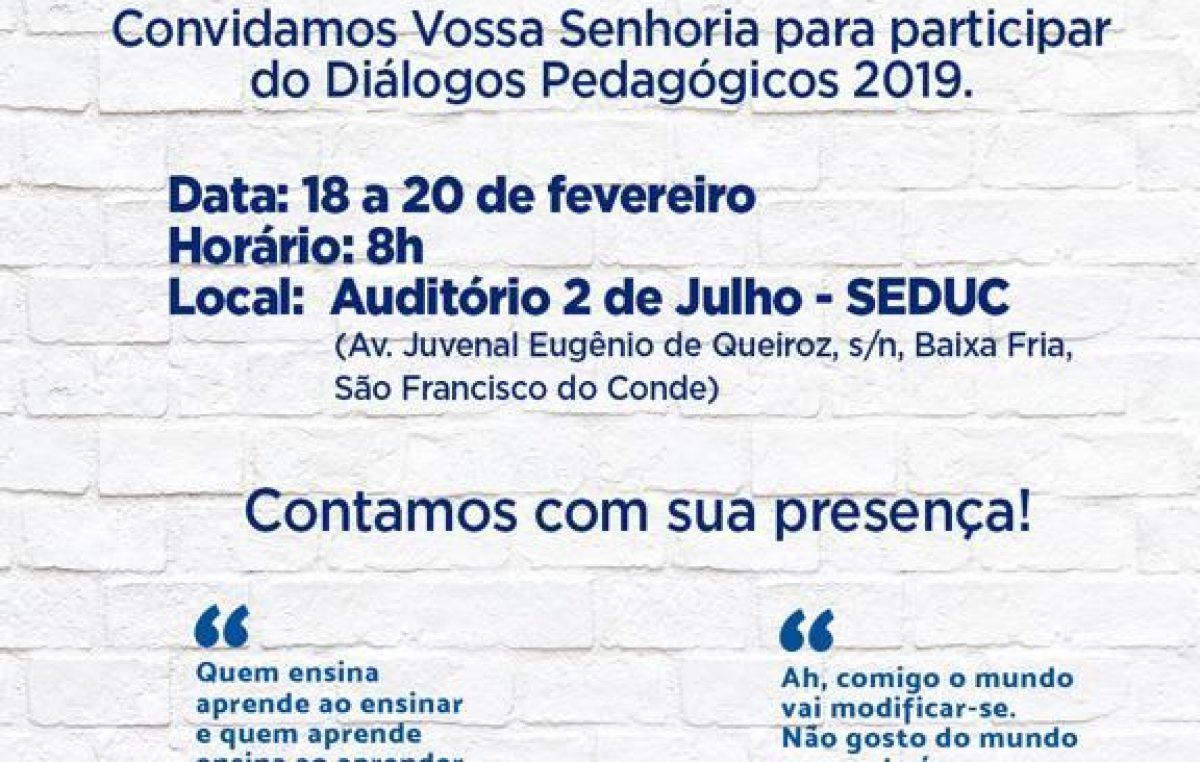 """Construção do Currículo de São Francisco do Conde será iniciada durante o """"Diálogos Pedagógicos 2019"""""""