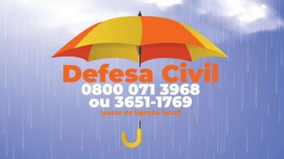 Defesa Civil tem trabalhado para garantir a segurança da população franciscana nesse período chuvoso