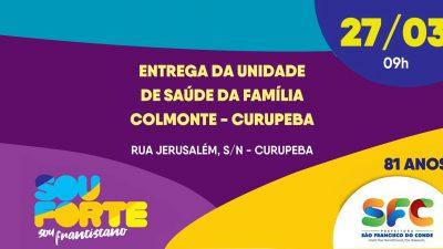 #81anos: No aniversário da cidade, Prefeitura entrega Unidade de Saúde da Família do Colmonte, dia 27 de março, e veículo do Conselho Tutelar Mataripe