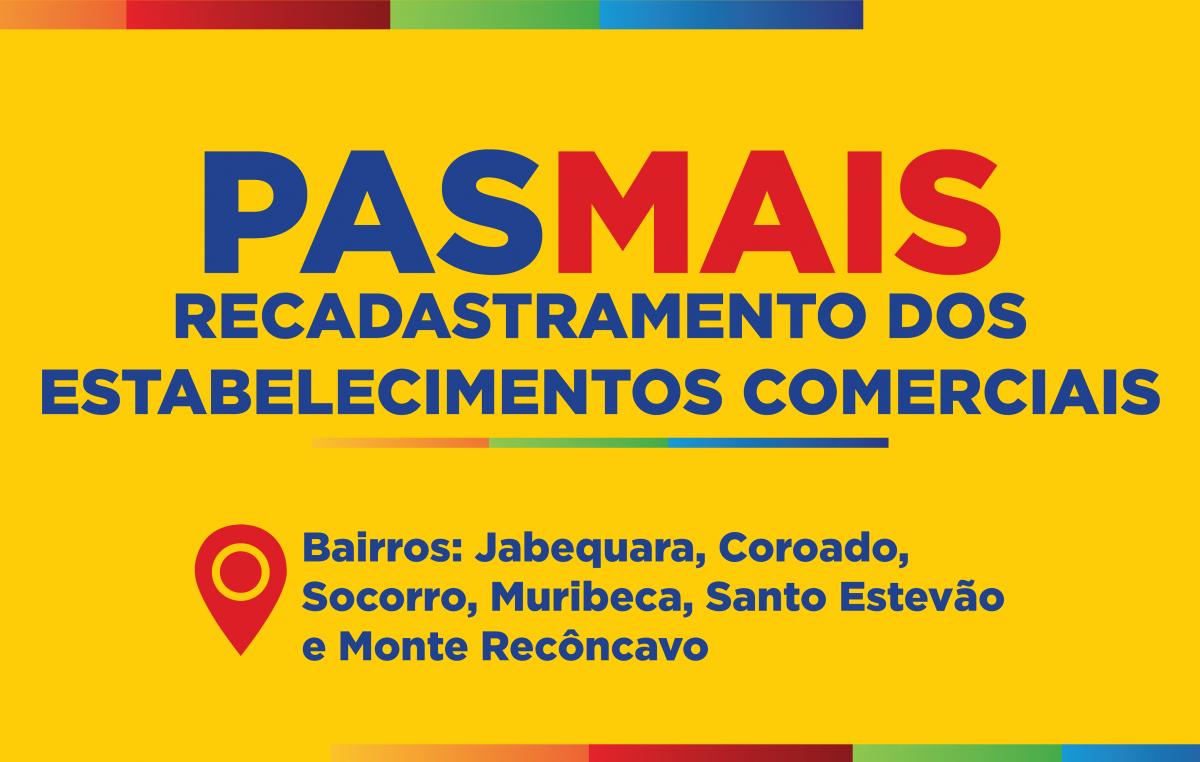 """Cadastramento de novos comércios para o recebimento do cartão """"PAS MAIS"""" acontecerá nos dias 25 e 26 de março"""