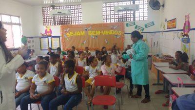 Unidade de Saúde de São Bento promoveu ações de saúde bucal para alunos da Escola Três Marias