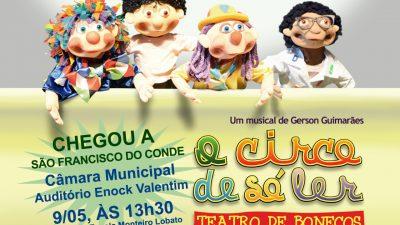 Circo de Só Ler em apresentação exclusiva para alunos da Rede Municipal de Ensino