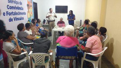 Major visita CRAS do Caípe para conhecer o trabalho desenvolvido pelo órgão