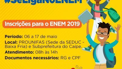 Inscrições do ENEM terminam nesta sexta-feira (17 de maio)