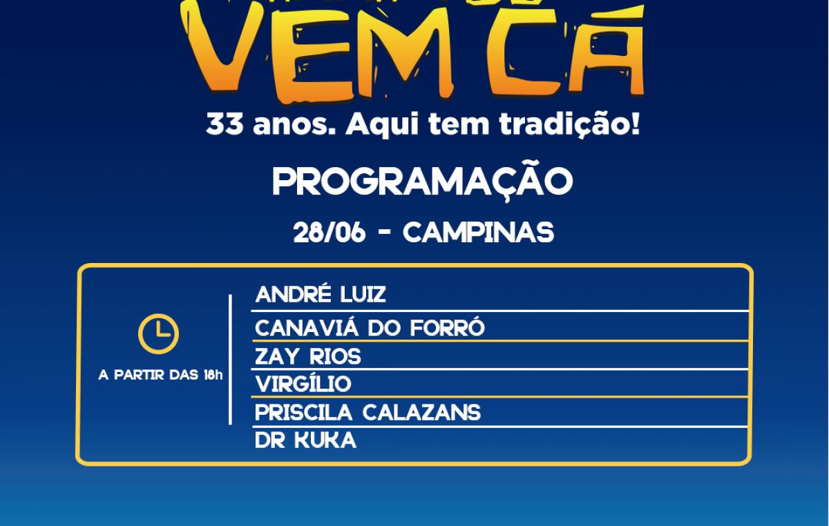 """A festa continua no """"Arraiá do Vem Cá"""" com as festividades de São Pedro"""