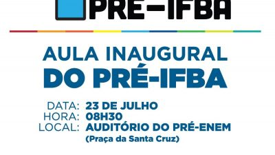 Aulas do Pré-IFBA começam nesta terça-feira (23)