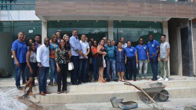 Prefeito, vice-prefeito e comitiva visitaram 10 obras nos bairros e na sede de São Francisco do Conde