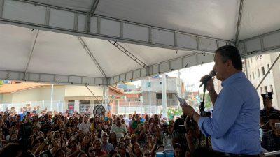 Junto ao governador da Bahia, autoridades municipais de São Francisco do Conde participaram da inauguração do Centro de Atenção Psicossocial (CAPS), em Madre de Deus