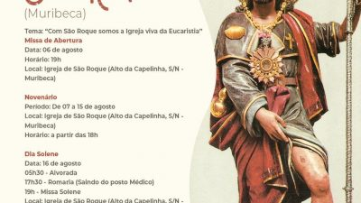 Tríduo, novenário, procissão e missa solene marcarão os festejos em honra a São Roque nos bairros de Muribeca e Fazenda Macaco, em São Francisco do Conde