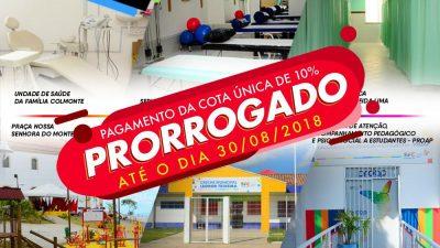 O pagamento da cota única do IPTU 2019 segue até o dia 30 de agosto