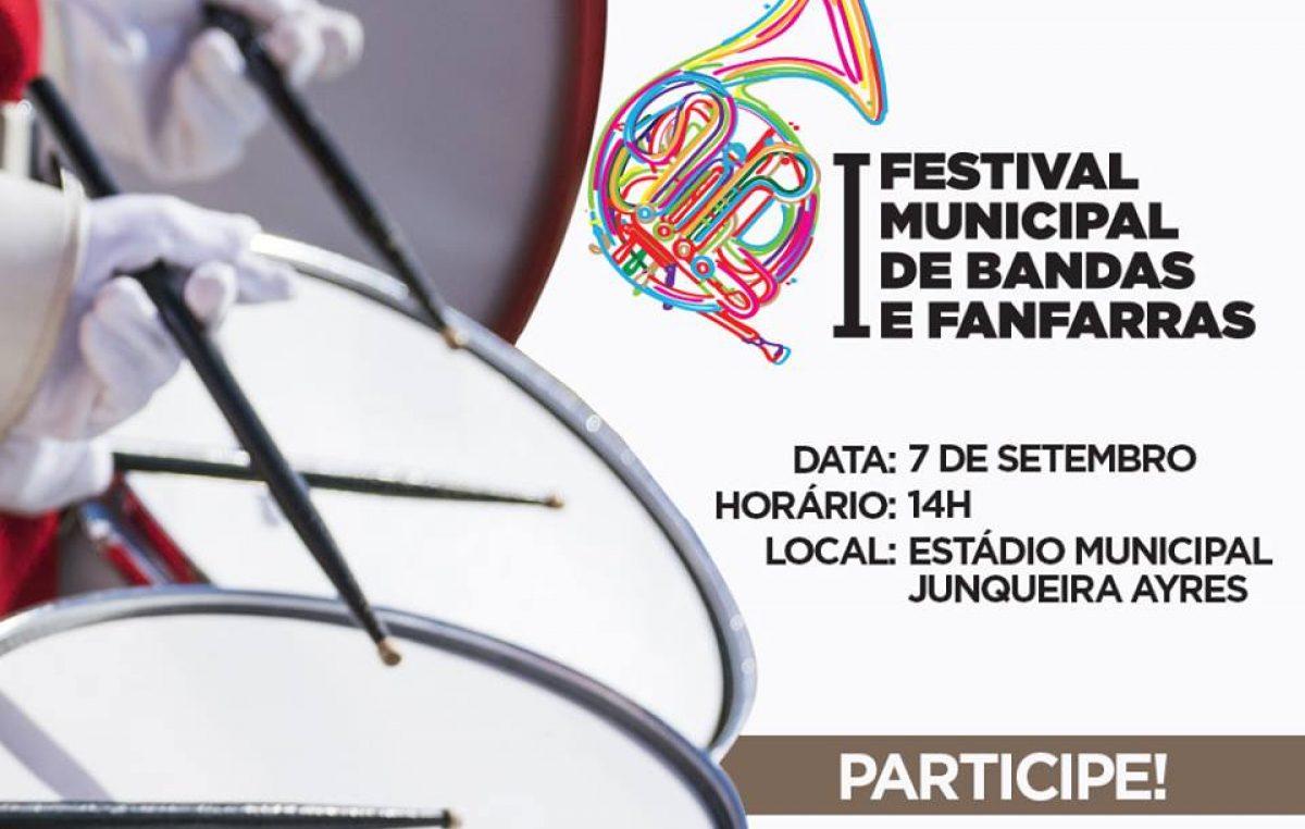 Um programa para as famílias franciscanas:  I Festival Municipal de Bandas e Fanfarras
