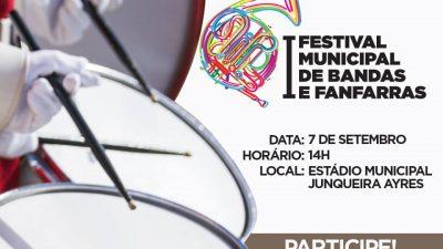 I Festival Municipal de Bandas e Fanfarras de São Francisco do Conde será realizado neste sábado (07)