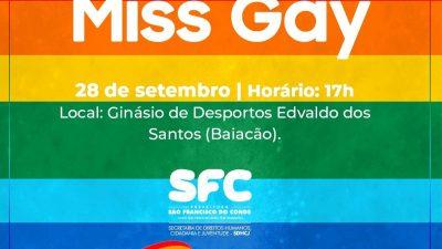 SDHCJ: Inscrições para o Concurso Miss Gay 2019 seguem até o dia 16 (segunda-feira)