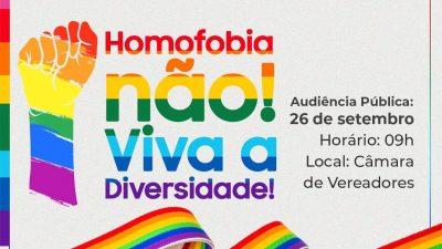 Audiência Pública Sobre os Direitos da População LGBT acontecerá nesta quinta-feira (27)