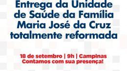 Prefeitura entrega, nesta quarta-feira (18), reforma da Unidade de Saúde que atende aos bairros de Campinas, Gurugé e Pitangueira