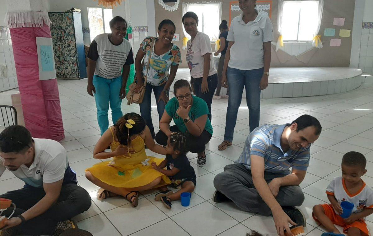 Creche Casulo promoveu Alimentação Saudável + Saúde Bucal, através de ações do Programa Saúde na Escola