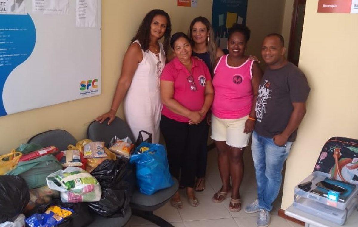 """SDHCJ faz doação de alimentos ao grupo """"As Poderosas Iluminadas"""""""
