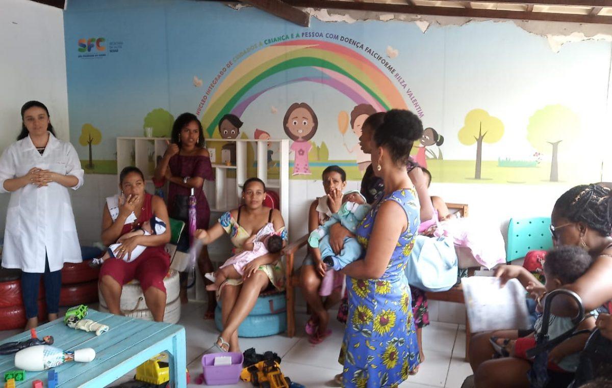 Saúde celebrou o Dia das Crianças no Núcleo Integrado de Cuidados à Criança e à Pessoa com Doença Falciforme Rilza Valentim