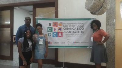 Estudantes franciscanas representam o município na X Conferência Estadual dos Direitos da Criança e do Adolescente