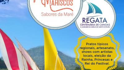 III Festival de Mariscos: Sabores da Maré acontecerá dias 14 e 15 de dezembro Evento inclui as tradicionais Regata Centenária de Canoas e Lavagem da Igreja de Santo Estêvão