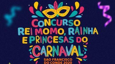 Inscrições para o Concurso de Rei Momo, Rainha e Princesas do Carnaval seguem acontecendo até amanhã (14)