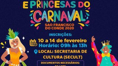 Inscrições para o Concurso de Rei Momo, Rainha e Princesas do Carnaval seguem acontecendo até o dia 14 de fevereiro