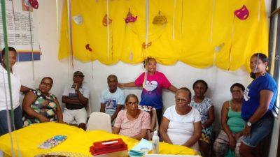 Fevereiro Roxo: Unidade de Saúde do Monte Recôncavo promoveu palestras e oficina de máscaras carnavalescas