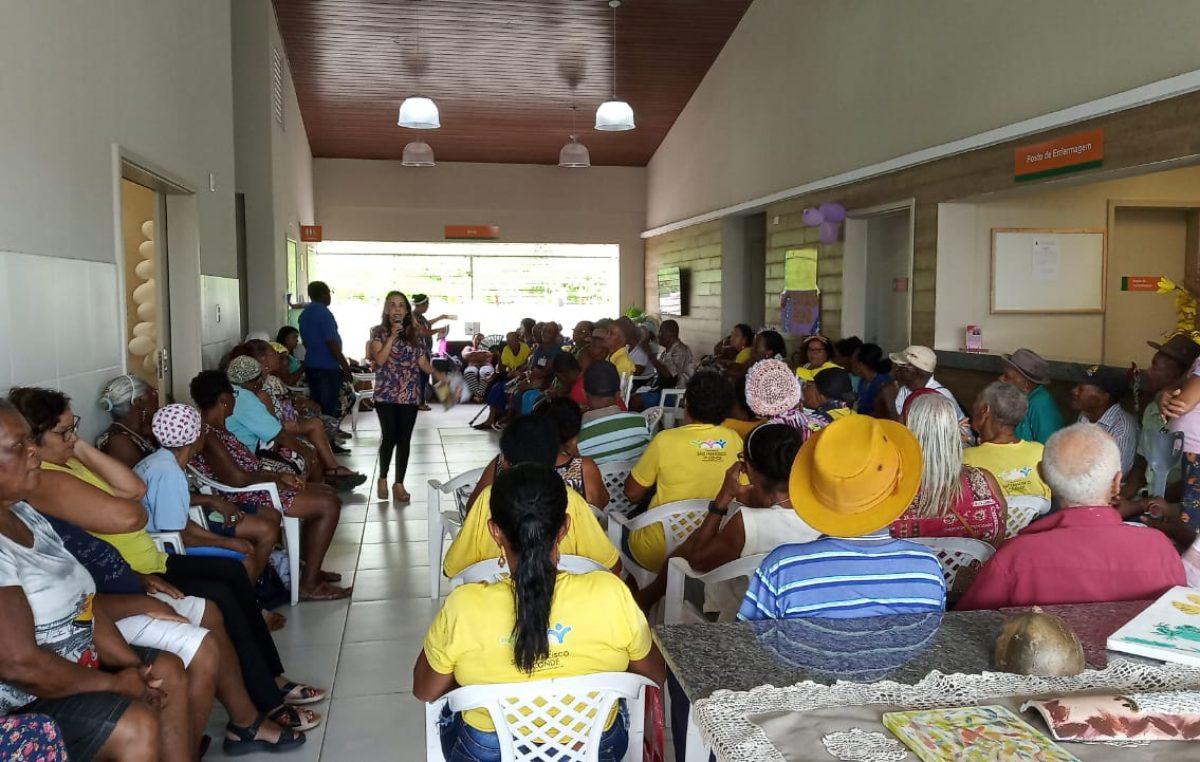 Fevereiro Roxo: Saúde do idoso foi tema de atividade do CAPS com o Serviço de Convivência e Fortalecimento de Vínculos