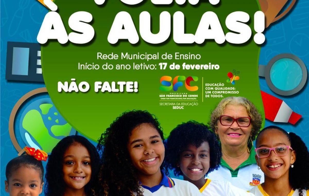 Volta às aulas na Rede Municipal de Ensino de São Francisco do Conde será nesta segunda-feira (17)